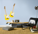 Yellow Guitars Wall Decal