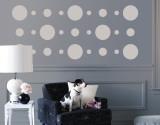 Grey Circles Autocollant mural