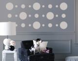 Grey Circles Wall Decal
