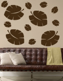 Brown Tropical Leaves Wall Decal