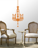 Orange Classic Chandelier Wall Decal
