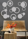 Grey Rings Wall Decal