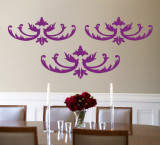Purple Flourish Wall Decal