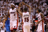 Dallas Mavericks v Miami Heat - Game One, Miami, FL - MAY 31: LeBron James and Mario Chalmers Photographic Print by Mike Ehrmann