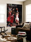 Miami Heat v Chicago Bulls - Game Five, Chicago, IL - MAY 26: Carlos Boozer, Joel Anthony and Chris Wall Mural by Nathaniel S. Butler