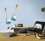 Blue Guitars Wall Decal