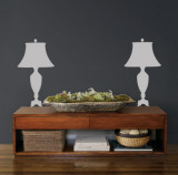 Grey Victorian Lamps Autocollant mural