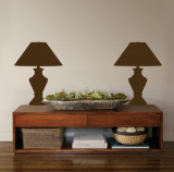 Brown Classic Lamps Wall Decal