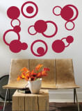 Red Rings Wall Decal