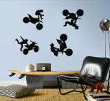 Motocross - Black Wall Decal
