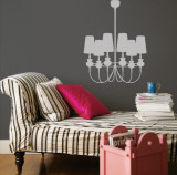 Grey Modern Chandelier Wall Decal
