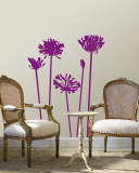 Purple Agapanthus Wall Decal
