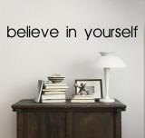 Glaube an dich Wandtattoo