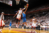 Dallas Mavericks v Miami Heat - Game One, Miami, FL - MAY 31: Chris Bosh and Shawn Marion Photographic Print by Jesse D. Garrabrant