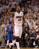 Dallas Mavericks v Miami Heat - Game Two, Miami, FL - JUNE 02: Udonis Haslem Photographic Print by Mike Ehrmann