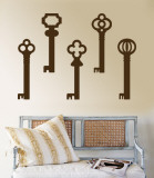 Brown Keys Wall Decal