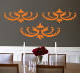 Orange Flourish Wall Decal