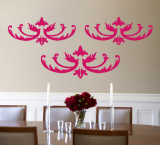 Hot Pink Flourish Wall Decal