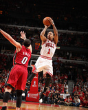 Miami Heat v Chicago Bulls - Game Five, Chicago, IL - MAY 26: Derrick Rose and Mike Bibby Photographic Print by Nathaniel S. Butler