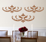 Mocha Flourish Wall Decal