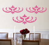 Light Pink Flourish Wall Decal