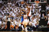 Dallas Mavericks v Miami Heat - Game Two, Miami, FL - JUNE 2: Dwyane Wade and Dirk Nowitzki Photographic Print by Garrett Ellwood
