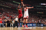 Miami Heat v Chicago Bulls - Game Five, Chicago, IL - MAY 26: Chris Bosh and Joakim Noah Photographic Print by Nathaniel S. Butler