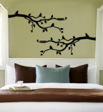 Black Branch With Birds Wall Decal