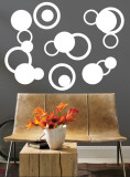 White Rings Wall Decal