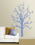 Blue Tree Wall Decal