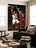 Miami Heat v Chicago Bulls - Game Five, Chicago, IL - MAY 26: Derrick Rose and LeBron James Wall Mural by Jonathan Daniel