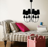 Black Modern Chandelier Vinilos decorativos