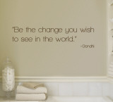 Change - Gandhi - Brown Wallstickers