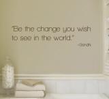 Change - Gandhi - Brown Kalkomania ścienna