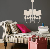 Taupe Modern Chandelier Autocollant mural