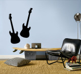 Black Guitar Silhouette Wall Decal