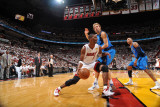 Dallas Mavericks v Miami Heat - Game Two, Miami, FL - JUNE 2: Chris Bosh and Dirk Nowitzki Photographic Print by Jesse D. Garrabrant