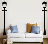 Street Lamps - Black - Duvar Çıkartması