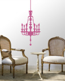 Light Pink Classic Chandelier Wall Decal