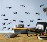 Black Lizards Wall Decal