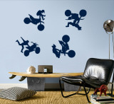 Motocross - Navy Wall Decal