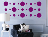 Purple Circles Autocollant mural