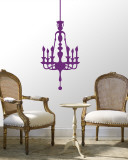Purple Classic Chandelier Autocollant mural