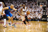 Dallas Mavericks v Miami Heat - Game Two, Miami, FL - JUNE 2: Dwyane Wade and Jason Kidd Photographic Print by Garrett Ellwood
