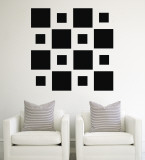 Black Squares Wall Decal