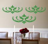 Green Flourish Wall Decal