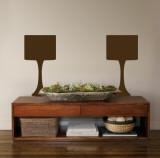 Brown Modern Lamps Kalkomania ścienna