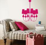 Hot Pink Modern Chandelier Vinilo decorativo