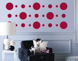Red Circles Wall Decal