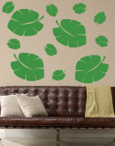 Green Tropical Leaves Wall Decal